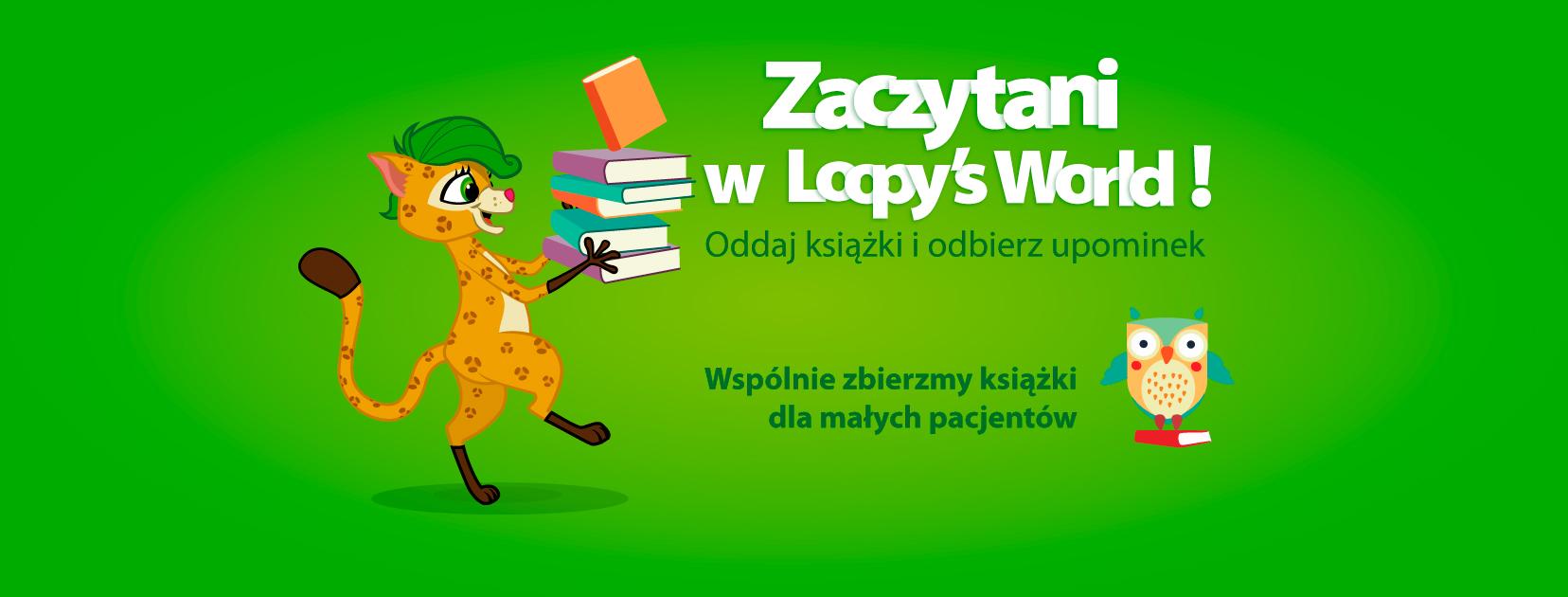 Wielka zbiórka książek w Loopy's