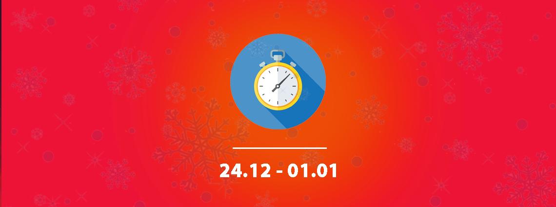 Godziny otwarcia w okresie Świąt Bożego Narodzenia